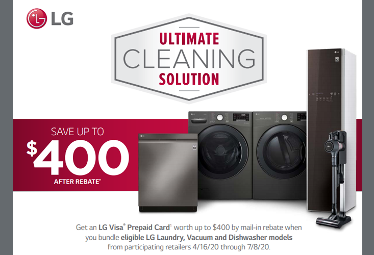 2020 LG Ultimate Cleaning Solution Offer (Apr 16 - Jul 8)